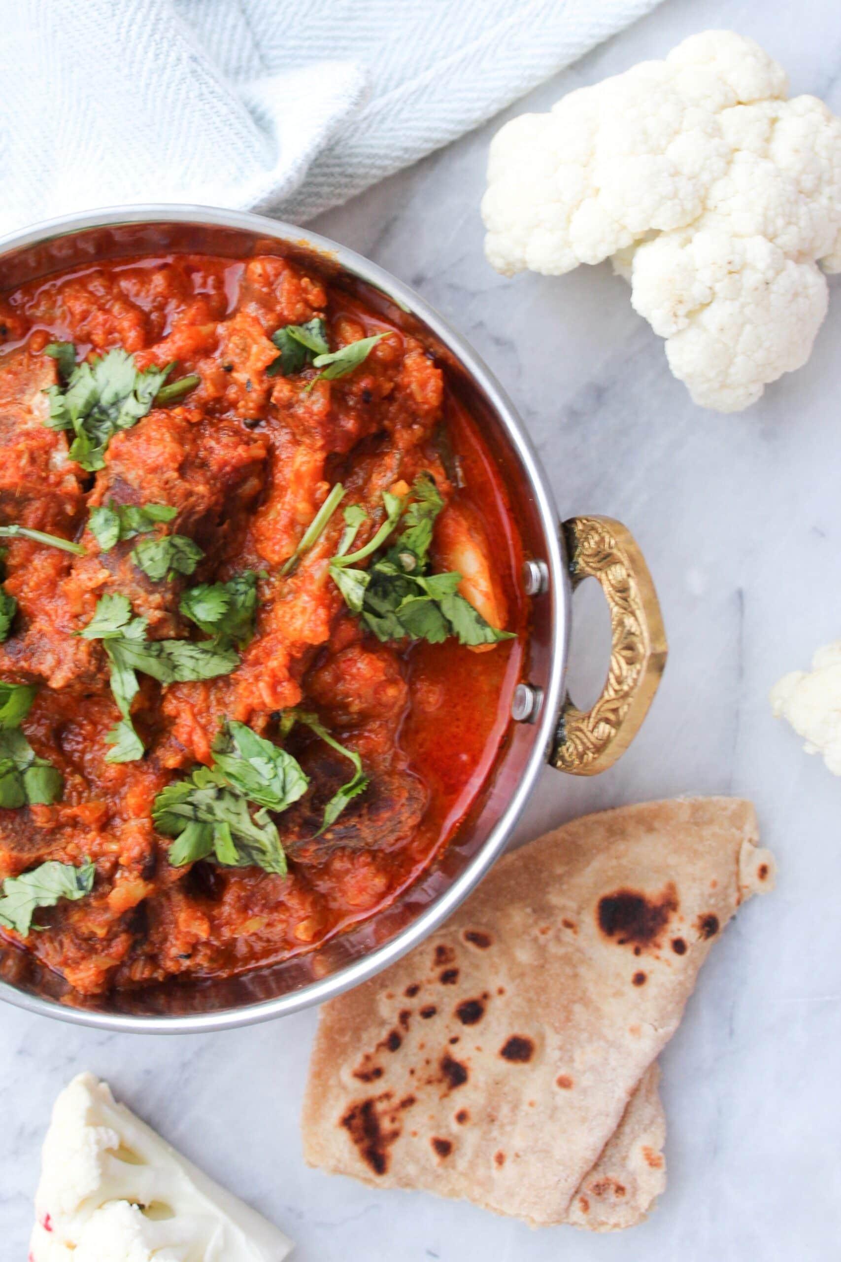 Instant Pot Gobi Gosht (Cauliflower & Meat Curry)