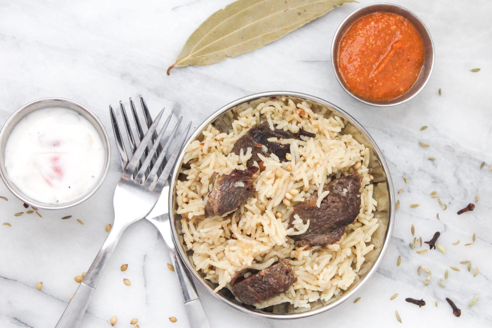 Instant Pot Beef Pulao (Beef Pilaf)