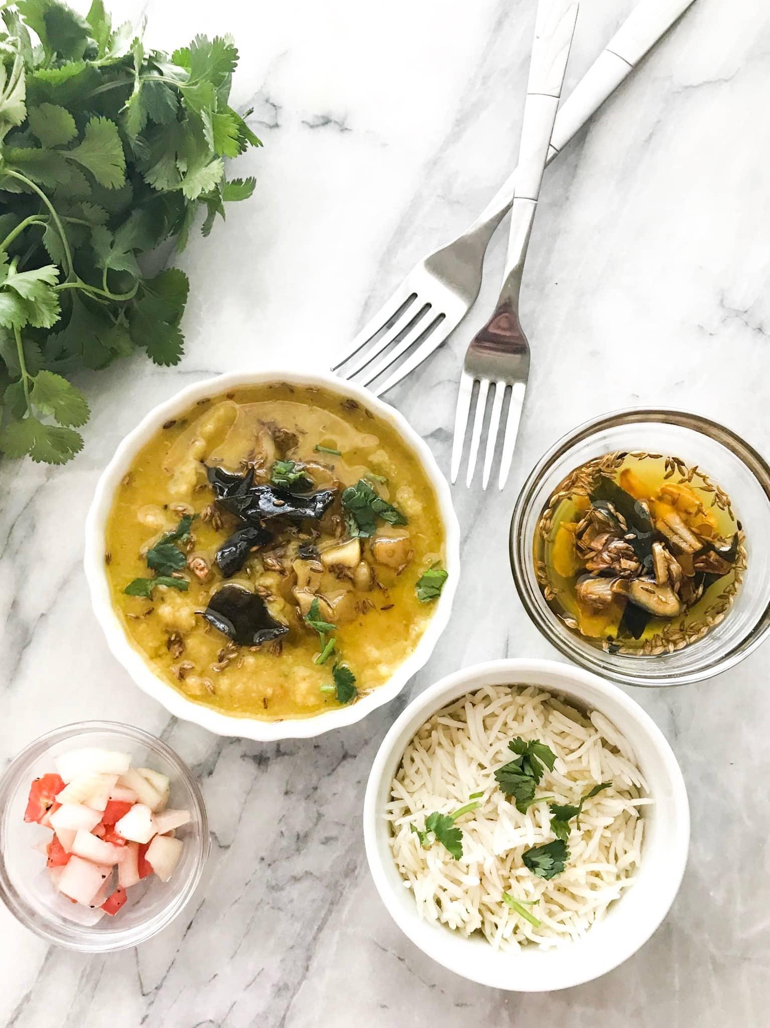 Instant Pot Moong and Masoor Daal (lentils)