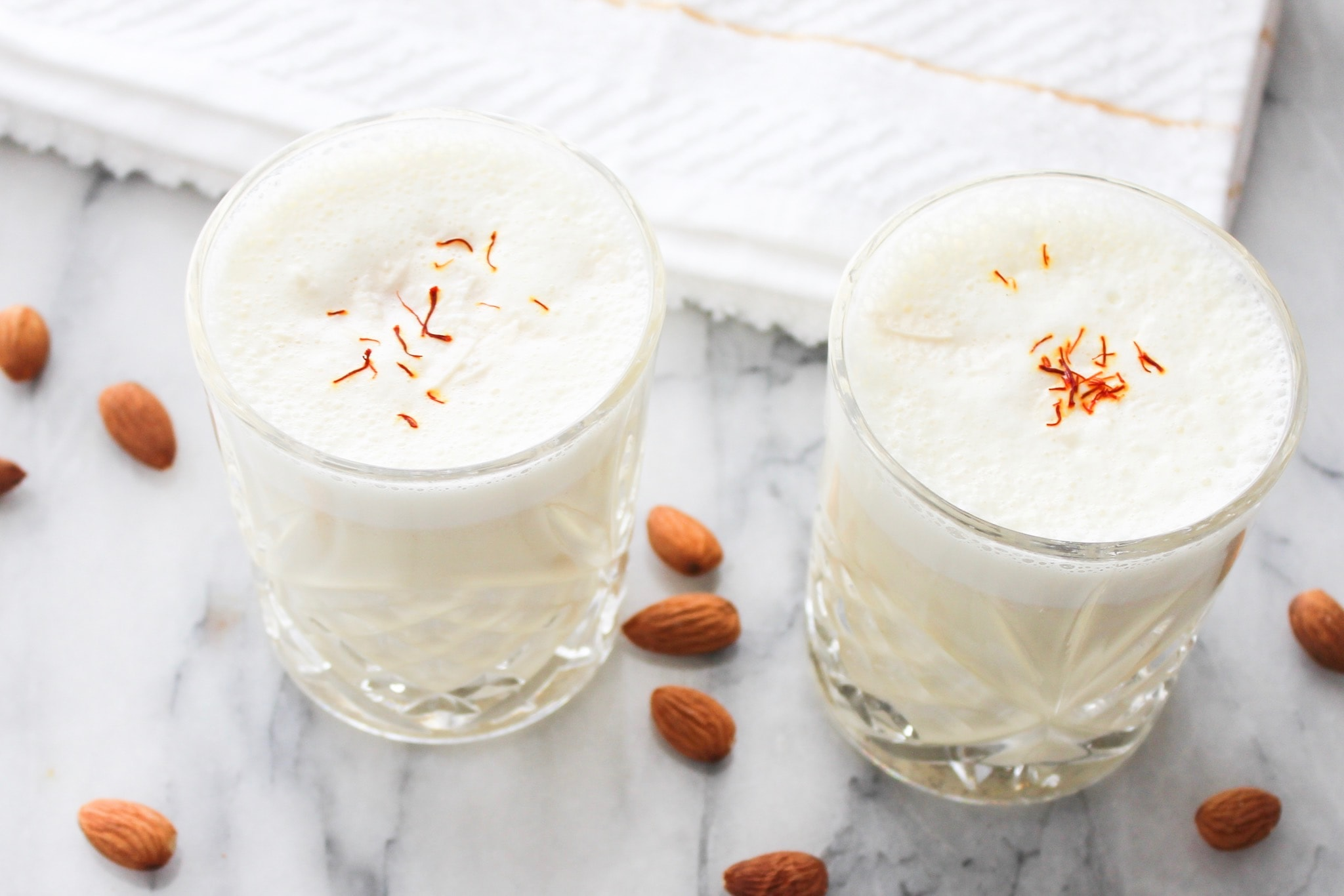 Almond and Saffron Milk