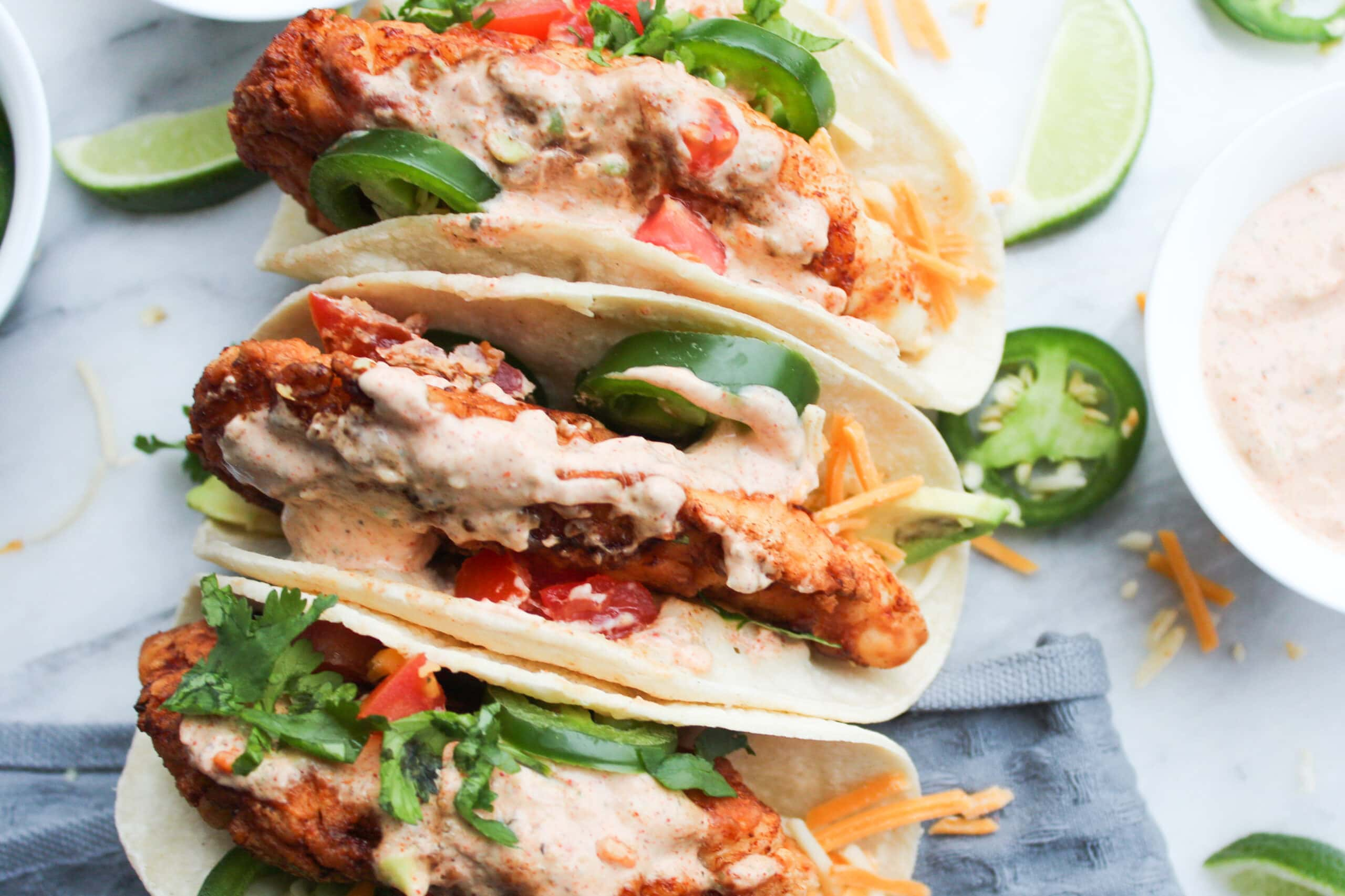 Fried Chicken Tacos
