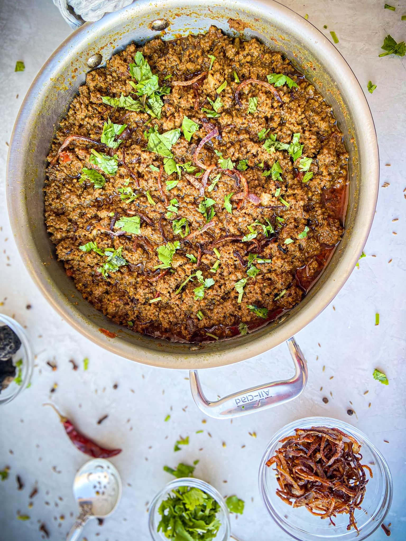 Authentic Dum Ka Keema (Smoked Ground Beef)