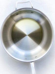 oil in the pot