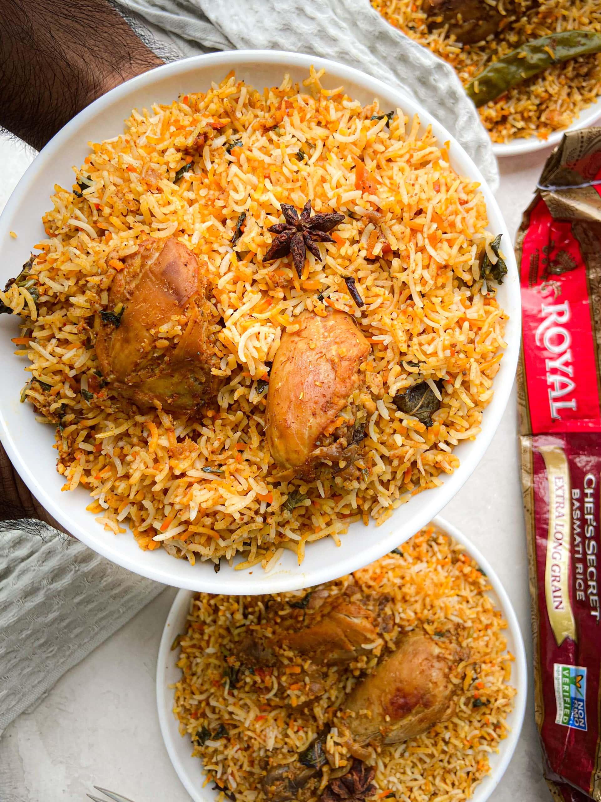 briyani and royal rice